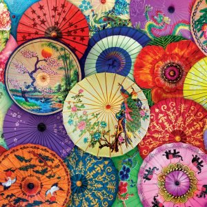 Asian Oil-Paper Umbrellas 1000 Piece Jigsaw Puzzle