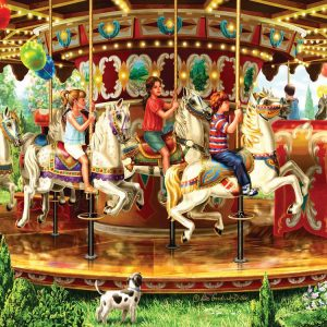 Carousel Ride 1000 Piece Jigsaw Puzzle
