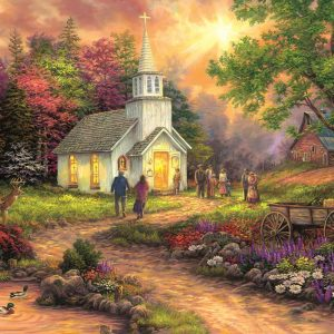 Chuck Pinson - Country Church 1000 Extra Large Piece Jigsaw Puzzle