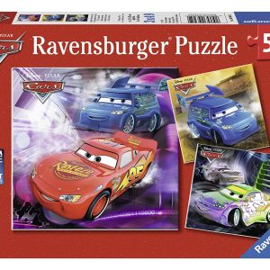 Disney Cars - On the Race Track 3 x 49 Piece Puzzle