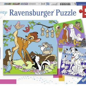 Disney Friends 3 x 49 Piece Jigsaw Puzzle