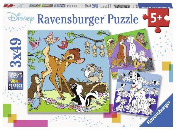 Disney Friends 3 x 49 Piece Jigsaw Puzzle
