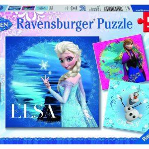 Disney Frozen - Elsa, Anna & Olaf 3 x 49 Piece Puzzle