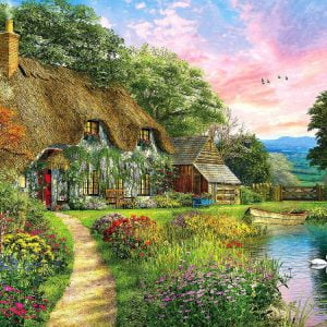 Sunset Country Cottage 1000 Piece Jigsaw Puzzle
