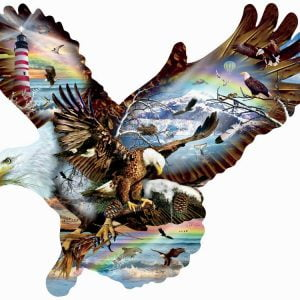 Eagle Eye Approx 1000 Piece Shaped Jigsaw Puzzle - Sunsout