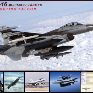 F-16 Falcon 1000 Piece Jigsaw Puzzle - Eurographics