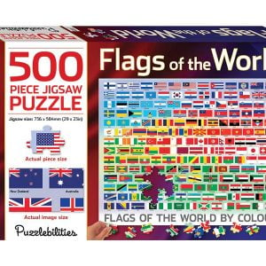Flags of the World 500 Large Piece Jigsaw Puzzle - Hinkler