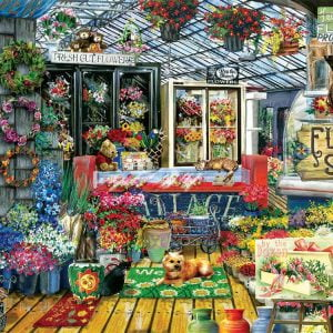 Fresh Flowers 1000 Piece Jigsaw Puzzle