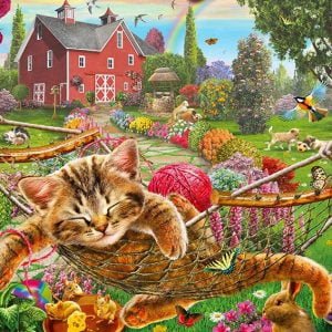 Gallery 4 - Cat on the Farm 300 XL Piece Holdson Puzzle