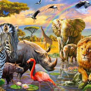 Gallery 4 - Savannah Waterhole 300 XL Piece Puzzle