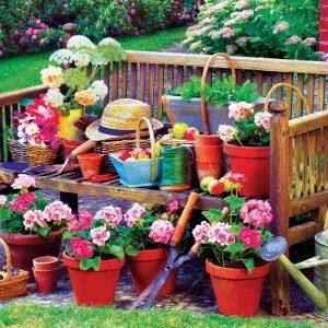 Garden Bench 1000 Piece Puzzle