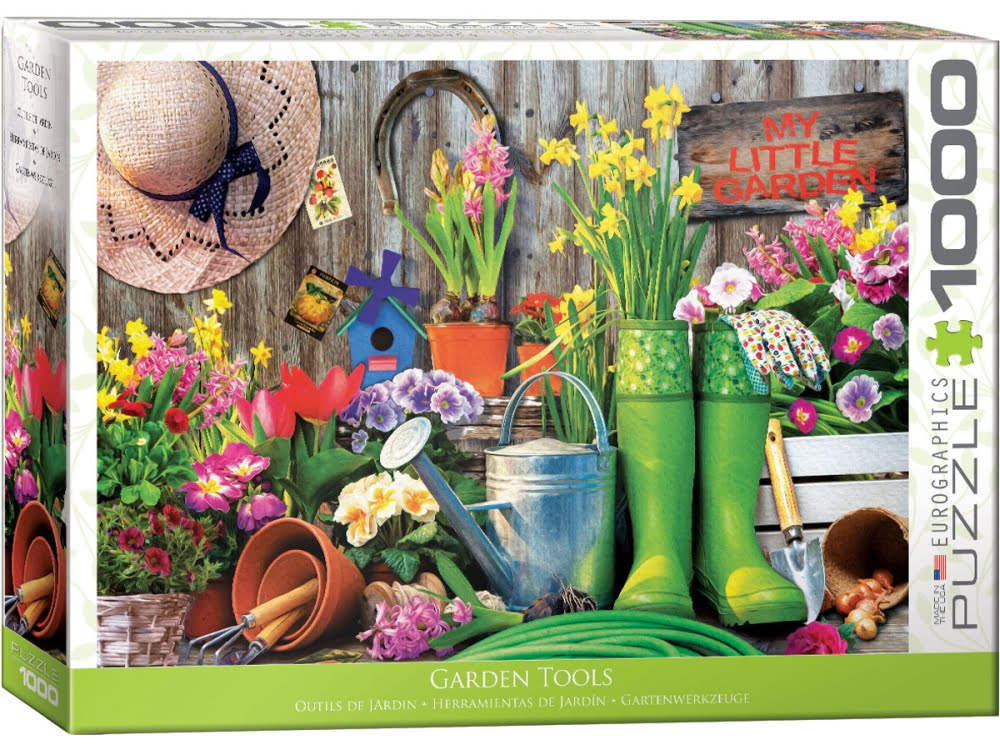Eurographics jigsaw puzzles puzzle palace australia for Gardening tools crossword