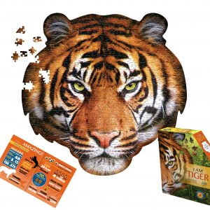 I am Tiger 550 Piece Shaped Jigsaw Puzzle - Madd Capp