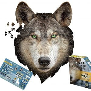 I am Wolf 500 Piece Shaped Jigsaw Puzzle - Madd Capp