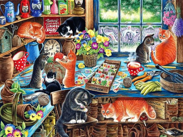 In a Garden Shed 1000+ Extra Large Piece Jigsaw Puzzle