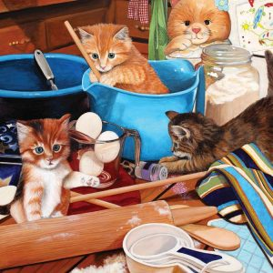 Kitties in the Kitchen 1000 Piece Jigsaw Puzzle