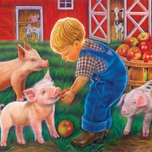 Little Farm Boy 500 Piece Jigsaw Puzzle