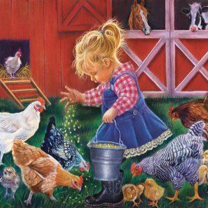Little Farm Girl 500 Piece Jigsaw Puzzle