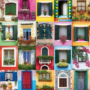 Mediterranean Windows 1000 Piece Puzzle - Eurographics