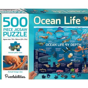 Ocean Life 500 Piece Jigsaw Puzzle - Puzzlebilities
