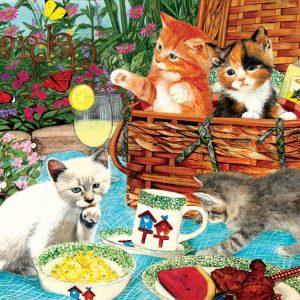 Picnic Kittens 1000 Piece Jigsaw Puzzle