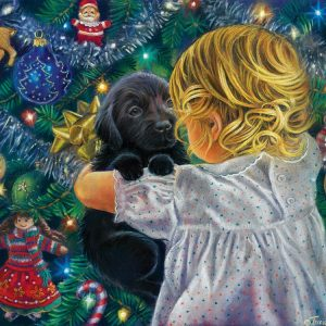 Puppy for Christmas 500 Piece Jigsaw Puzzle