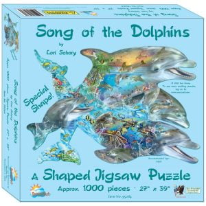 Song of the Dolphins 1000 Piece Shaped Jigsaw Puzzle - Sunsout