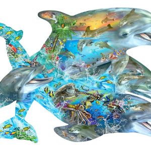Song of the Dolphins Approx 1000 Piece Shaped Jigsaw Puzzle