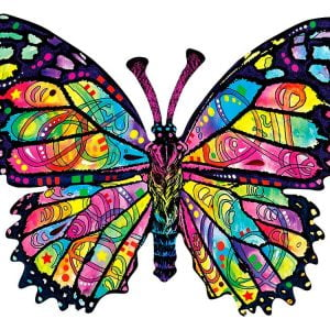 Stained Glass Butterfly Approx 1000 Piece Shaped Puzzle - Sunsout