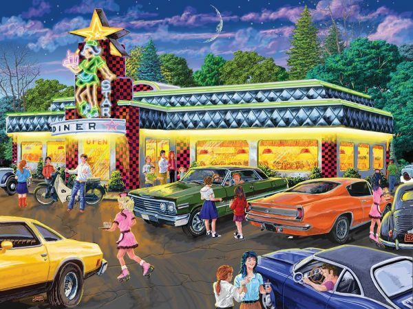 Star Diner 500 Piece Jigsaw Puzzle - Sunsout