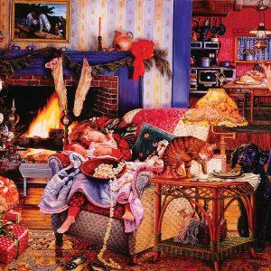 Susan Brabeau - Christmas Thieves 1000 Piece Puzzle