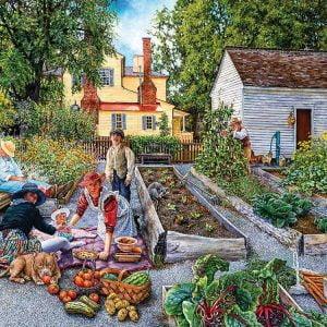 Susan Brabeau - Garden Scene 1000 Piece Jigsaw Puzzle