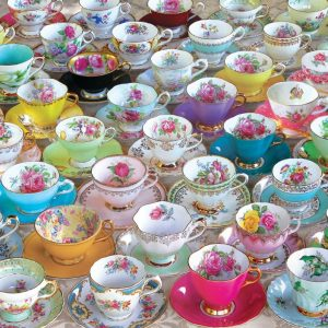 Tea Cup Collection 1000 Piece Puzzle - Eurographics