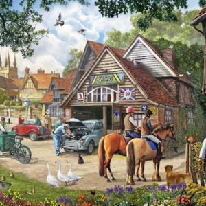 The English Village - Village Garage 500 XL Piece Puzzle - Holdson