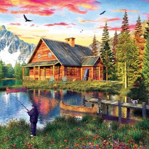 The Fishing Cabin 1000 Piece Jigsaw Puzzle