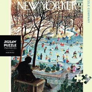 The New Yorker - Skating in the Park 750 Piece Puzzle