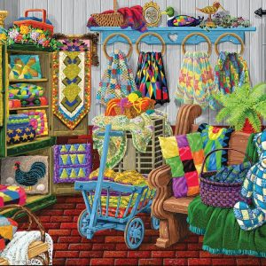 The Quilt Fair 1000 Piece Jigsaw Puzzle - Sunsout