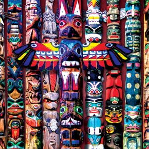 Totem Poles 1000 Piece Jigsaw Puzzle - Eurographics