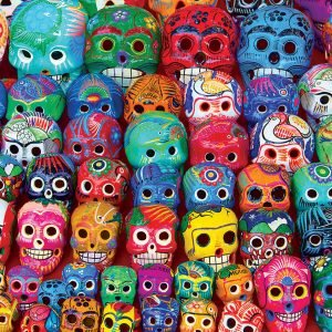 Traditional Mexican Skulls 1000 Piece Jigsaw Puzzl