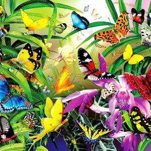 Tropical Butterflies 1000 Piece Jigsaw Puzzle