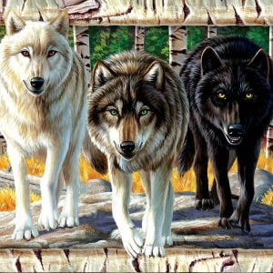 Wolf Pack Colours 1000 Piece Jigsaw Puzzle