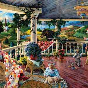 Afternoon with Grandma 1000 Piece Sunsout Jigsaw Puzzle