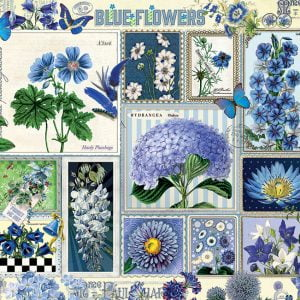 Blue Flowers 1000 Piece Cobble Hill Jigsaw Puzzle