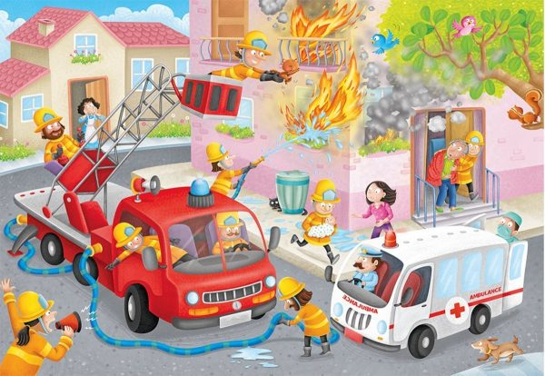 Firefighter Rescue 60 Piece Jigsaw Puzzle - Ravensburger
