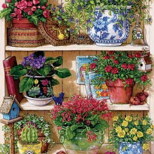 Flower Cupboard 500 Piece Cobble Hill Jigsaw Puzzle