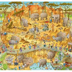 Funky Zoo African Habitat 1000 Piece Heye Puzzle