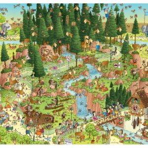 Funky Zoo - Black Forest Habitat 1000 Piece Heye Puzzle