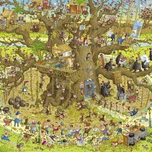 Funky Zoo - Monkey Habitat 1000 Piece Heye Jigsaw Puzzle