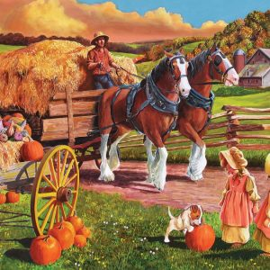 Hay Wagon 275 XL Piece Cobble Hill Jigsaw Puzzle