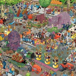 JVH The Flower Parade 1000 Piece Puzzle Jumbo